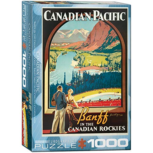 Eurographics 00327 - Crockart: Banff Nelle Rockies Canadese - Puzzle 1000 Pezzi