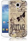 JAMMYLIZARD   Vintage Back Cover Hülle für Samsung Galaxy S4 Mini, LIBELLENMOTIV