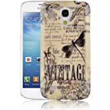JAMMYLIZARD | Vintage Back Cover Hülle für Samsung Galaxy S4 Mini, LIBELLENMOTIV
