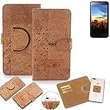 K-S-Trade Schutz Hülle für Hisense HS-U970E-8 Handyhülle Kork Handy Tasche Korkhülle Schutzhülle Handytasche Wallet Case Walletcase Flip Cover Smartphone