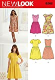 """Simplicity 6262 Size A 10/12/14/16/18/20/22 """"Misses' Dress with Neckline Variations"""" New Look Sewing Pattern"""