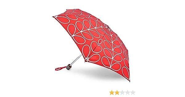 Large Red Linear Leaf Orla Kiely by Fulton Tiny 2 Umbrella