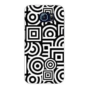 Designer Phone Case Cover for SamsungS6Edge Black And White Pattern