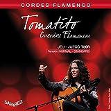 Savarez Cuerdas para Guitarra Cl�sica Flamenco juego T50R Tensi�n estandard, rojo