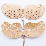 SHUCHANGLE 2PCS Unsichtbarer BH Atmungsaktiv Brust Aufkleber Rutschfeste Unsichtbarer BH Silikon Unterwäsche Hautfarbe C