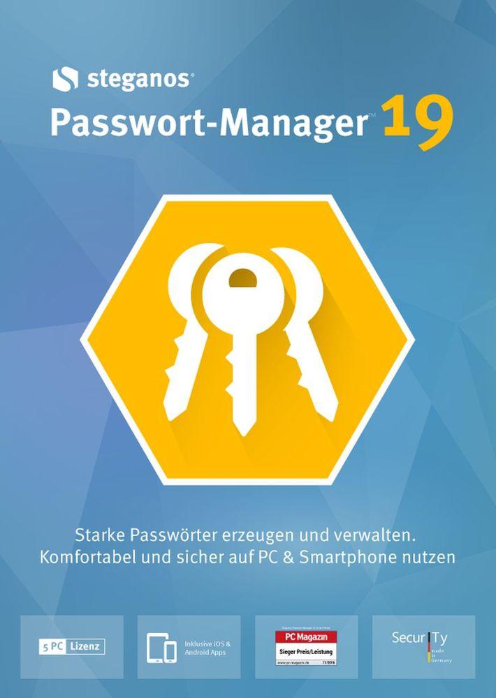 Steganos Passwort-Manager 19 - Starke Passwörter erzeugen und verwalten! Windows 10|8|7 [Download]