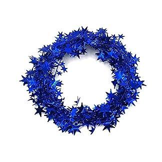 Guirnalda de espumillón de estrellas de 23 pies para decoración de Navidad