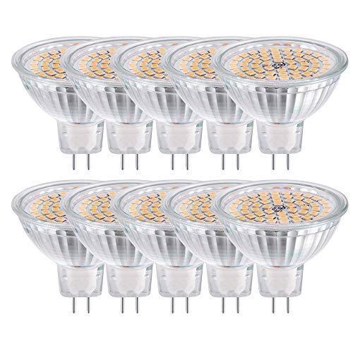 10er GVOREE GU5.3 LED MR16 Spots Warmweiß 5W 400LM Nicht dimmbar Ersetzt 40 Watt Halogen Lampen 120° Abstrahlwinkel Birne Leuchtmittel Glühbirnen 12V AC/DC