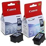 Canon PG512-CL513 Colour Ink Cartridges Value Pack - Black