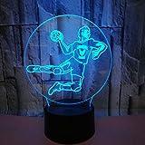 Optical Illusions 3D Handball Nacht Licht LED Lampen Tolle 7 Farbwechsel Berühren Tabelle Schreibtisch USB-Kabel für Kinder Schlafzimmer Geburtstagsgeschenke Geschenk