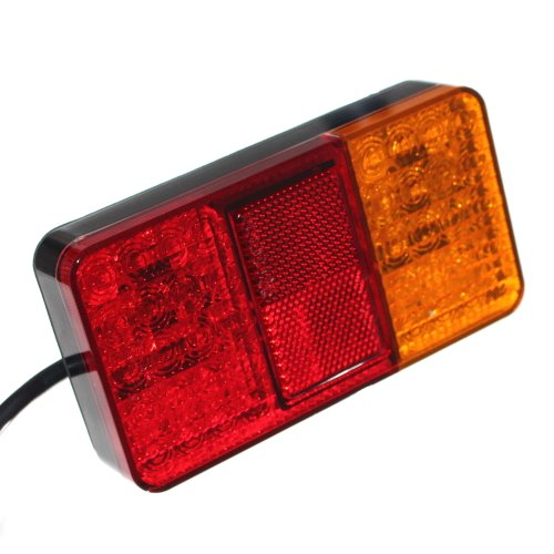 Led-bremslicht Anhänger (2er Set LED Rückleuchte Anhänger Blinker Rücklicht Bremslicht Reflektor 12V 24V Trailer Beleuchtung [A++] Neu Otto Harvest)