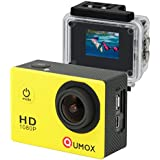 QUMOX Actioncam SJ4000, Action Sport Kamera Camera Waterproof, Full HD, 1080p Video, Helmkamera, Gelb