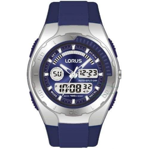 Lorus by Seiko R2391GX9 Gents Dual Analogue and Digital Watch 100 Metres Stopwatch