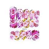 Morelyfish Nail Trasferimento Stickers Autoadesivo del Tatuaggio del Manicure Moda Acqua Caricature Cuore Disegno del Fiore