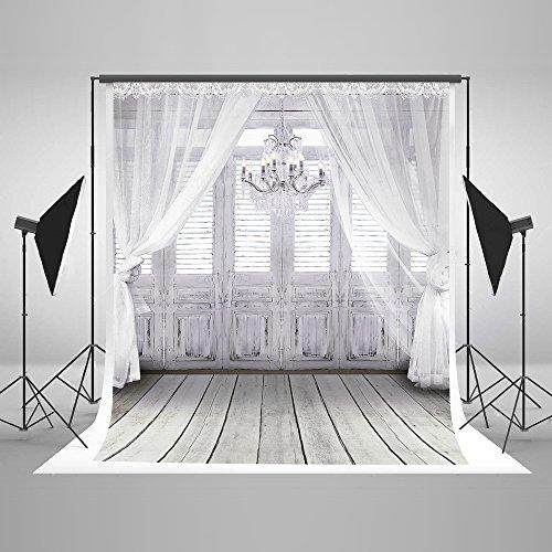 S 3 × 3m Innenraum Fotohintergrund Mikrofaser Weiß Boden Fenster Foto Kulissen Hochzeit Kinder Baby Fotografie Hintergründe für Studios ()