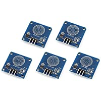 WINGONEER® DIY 5PCS TTP223B Módulo capacitivo del interruptor del sensor del tacto de Digitaces para Arduino
