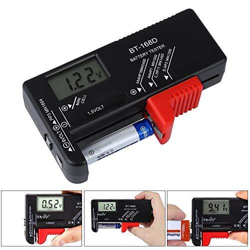 Batterietester, digital, Pomisty-Akku, Voltprüfer, Prüfbatterie, Kapazität für AA AAA C D, 9 V, 1,5 V, Knopfzelle BT-168D Battery Tester