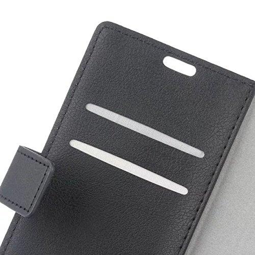 Vodafone Smart Prime 7 Cover Case, Vollfarbige Ledertasche mit Haltertasche Horizontale Seitenschnalle für Vodafone Smart Prime 7 ( Color : Purple , Size : Vodafone Smart Prime 7 ) Black