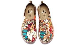 UIN Taudes von Gaudi Gedruckte Damen Canvas Slip-on Schuhe Mehrfarbig