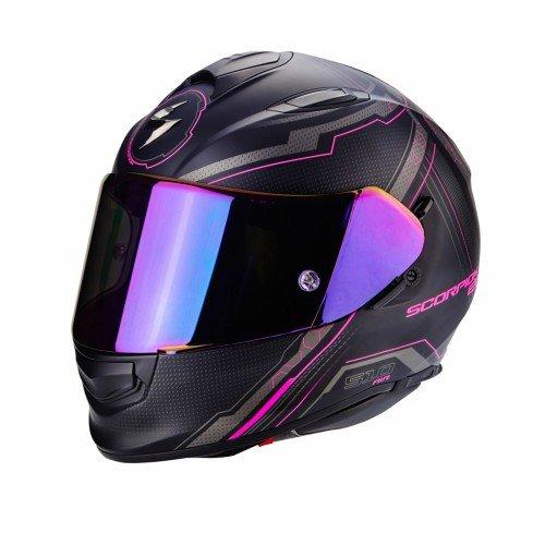 Scorpion Motorradhelm Exo 510 Air Sync, Schwarz/Pink, Größe M