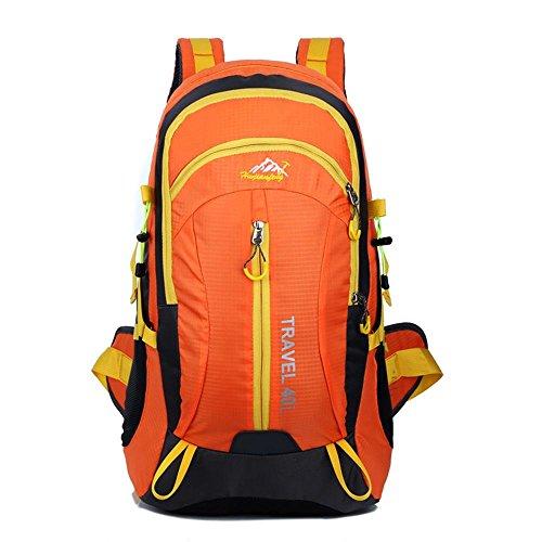 Outdoor-Bergsteigen-Tasche doppelter Schulterbeutel wasserdichter Freizeit-Reise-Wanderrucksack Orange
