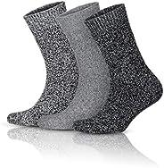 GoWith 3'lü Norveç Tipi Yünlü Kışlık Erkek Çorabı Seti