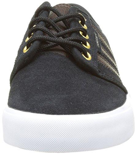 adidas Seeley, Basses Mixte Adulte Noir (Core Black/Dark Brown/Ftwr White)