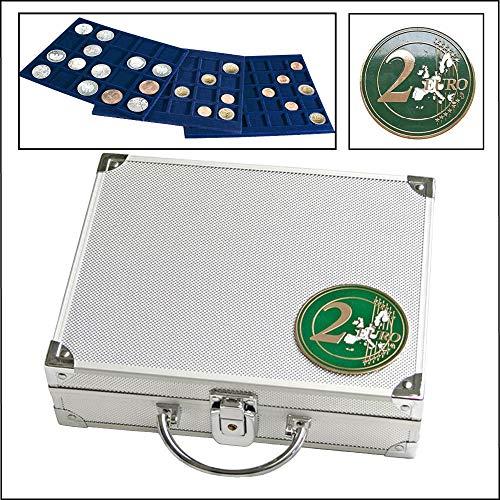 Alu-Münzkoffer für 2-Euro-Münzen: für alle 2 Euro-Münzen