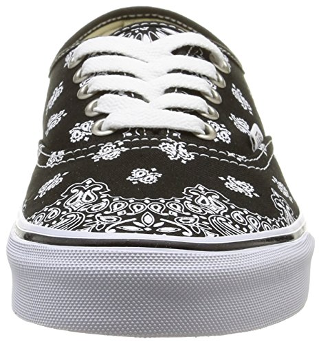 Vans U Authentic, Unisex-Erwachsene Sneakers Mehrfarbig (bandana/black/true White)