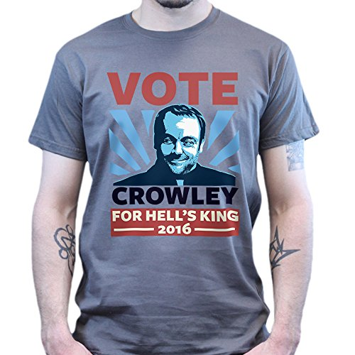 Vote Crowely For King Super Natural T-shirt Weiß