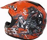 Motorradhelm Motocross Enduro Quad Helm Matt Orange L