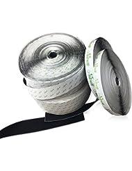 On1shelf ® Scratch et boucle de crochet de ruban adhésif 10m + 10m 16mm blanc