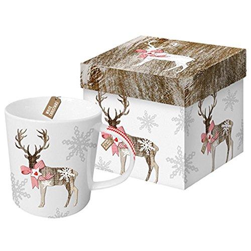 Tazza natalizia decorazione renna con (Grande Magnesio)