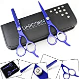 Stylish Deep Blue - Professional Hairdressing Scissors/Shears High Quality Stainless Steel Barber Salon Hair Cutting Scissors Plus Free Pouch And Shipping