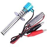 Woyisisi 6V-24V elektronische Glühkerzen Starter Zünder Fit für Nitro RC Auto Motor mit Akku und Ladegerät Upgraded(02)