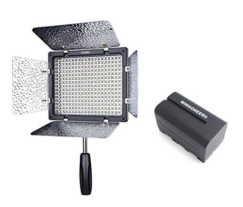 Yongnuo YN-300 III YN300 III Pro LED-Videoleuchte 3200K-5500K Farbtemperatur für Canon Nikon DSLR-Kamera DV und Camcorder mit WINGONEER NP-F750 Akku und Ladegerät