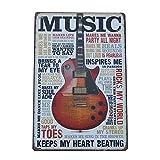 broadroot Metall Blechschilder Gitarre Musik Wand Kunst Vintage Vorlagen Malen House Decor