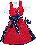 Fesches Kinderdirndl Sophie mit Streublümchen Rock, Größen:86;Farben:rot - blau