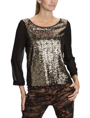 Vero Moda - Top - Coupe Droite - Fantaisie - Sequins - Femme gold