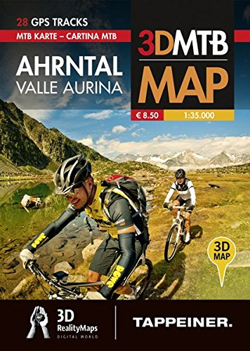 Valle Aurina. Cartina MTB. Con riproduzioni 3D por Athesia Tappeiner Verlag