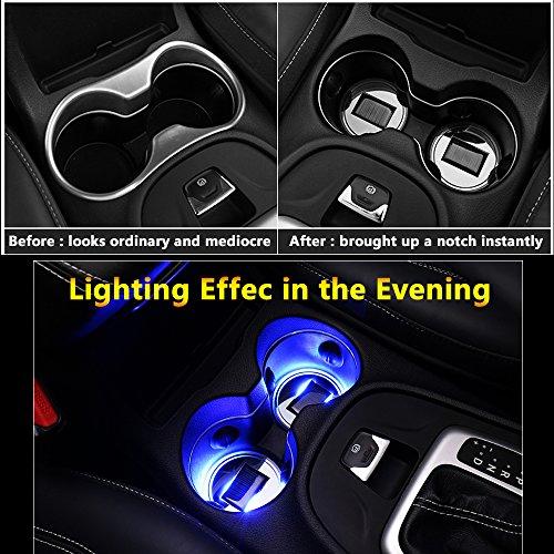Sottobicchiere auto energia solare LED luce incasso luci interne accessori illuminazio
