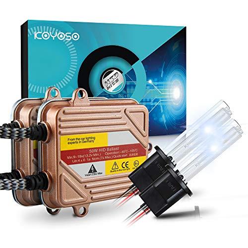 KOYOSO H1 Slim Xenon HID Kit de Conversion 50W Démarrage Rapide Ballasts Fast Lumineux Ampoule de Rechange 6000K
