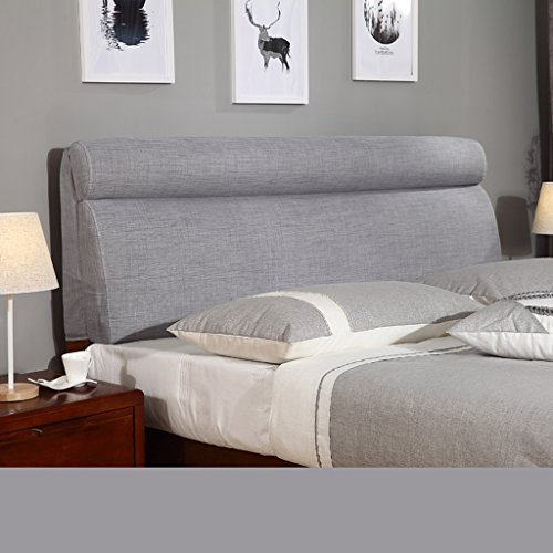 Uus Modernes populäres Bettkopf-Kissen-Korn-Schutz-weiches u. Bequemes Tuch-Leinen-weiches Beutel-Bett-großes Lehnen-Kissen-waschbares 60 * 180cm (Farbe : K) -