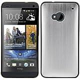 kwmobile Hülle für HTC One M7 - Backcover Case Handy Schutzhülle Aluminium - Hardcase Cover Silber