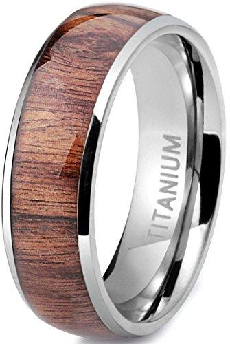 Sailimue 8mm Titan Männer Ringe für Herren Ringe Hochzeit Verlobung Band Größen 54(17.2)