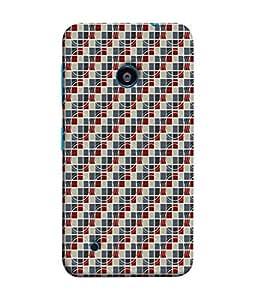 FUSON Designer Back Case Cover for Nokia Lumia 530 :: Nokia Lumia 530 RM 1017 :: Nokia Lumia 530 Dual SIM :: Microsoft Lumia 530 Dual (Seamless Pattern Blue Design Drawing )