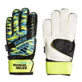 adidas Kinder Predator Manuel Neuer Top Training Fingersave Junior Torwarthandschuhe, solar Yellow/Bright Cyan/Black, 7