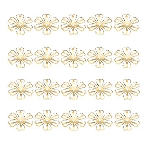 iligrane Blumen Krone Zwischenring Zwischenperlen für DIY Schmuck Handwerk Deko - Gold (Einfach Gute Kostüme Zu Machen)