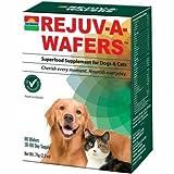 Sun Chlorella- Rejuv-A-Wafers- Chlorella & Eleuthero Superfood Suplemento para perros y gatos (60 ceras)