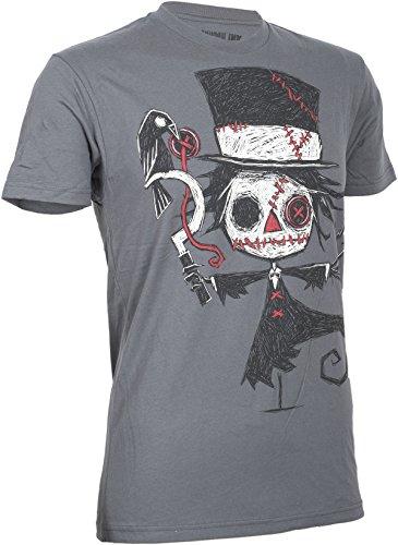 Akumu Ink RIPPED APART Skeleton Creepy Men TSHIRT Shirt Gothic Dunkelgrau mit Motiv